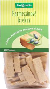 bio*nebio  Bio parmezánové krekry s olivovým olejem