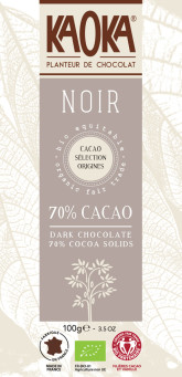 KAOKA Bio hořká čokoláda 70%