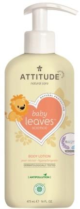 Attitude Dětké telové mléko Baby leaves s vůní hruškové šťávy