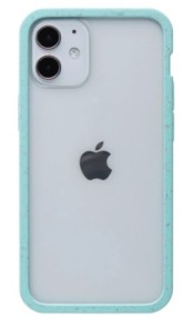 Pela Case Kompostovatelný obal na iPhone 12 Mini - Clear with Purist Blue Ridge