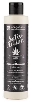 laSaponaria Pánský sprchový gel a šampon s konopím 2v1 BIO