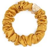 byEloise Gumička Gold Heart Silk Scrunchie Mustard