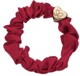 byEloise Gumička Gold Heart Silk Scrunchie Burgundy