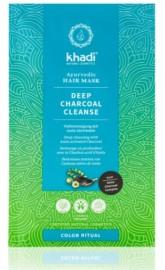 Khadi vlasová maska Hloubkové čištění aktivním uhlím