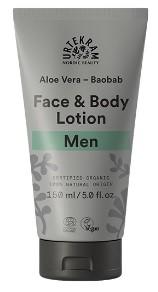 Urtekram Krém na tělo i obličej pro muže s aloe a baobabem BIO