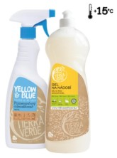 Tierra Verde Multipack Gel na nádobí BIO citron 1 l + Pomerančový odmašťovač sprej 750 ml