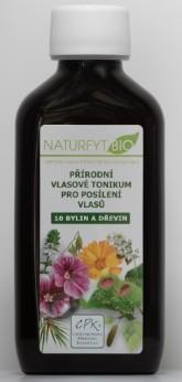Naturfyt bio BIO vlasové tonikum 10 bylin pro růst vlasů