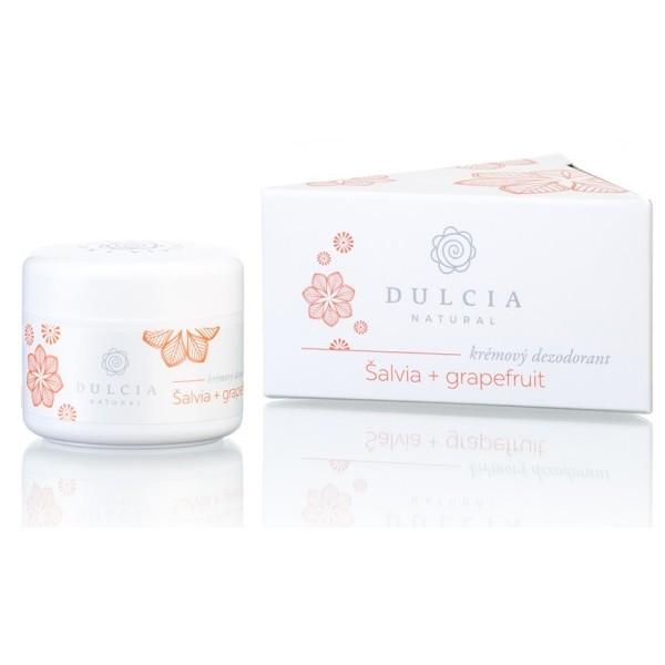 Dulcia natural Přírodní krémový deodorant šalvěj - grapefruit 30 ml