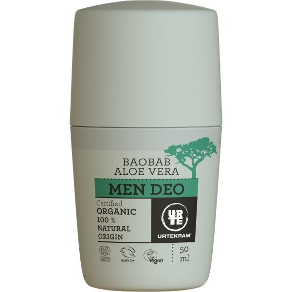 Urtekram Krémový deodorant pro muže s aloe a baobabem BIO 50 ml