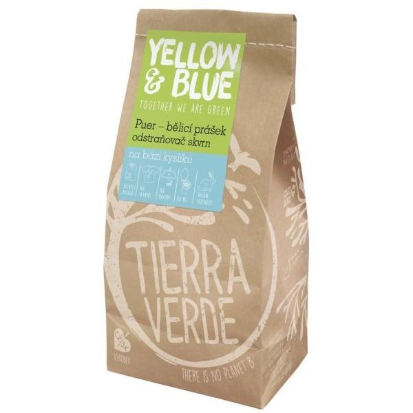 Yellow&Blue Puer – bělicí prášek a odstraňovač skvrn na bázi kyslíku (1 kg)