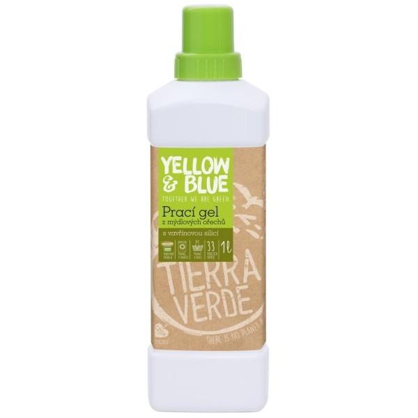 Yellow&Blue Prací gel z mýdlových ořechů se silicí vavřínu kubébového (1 l)