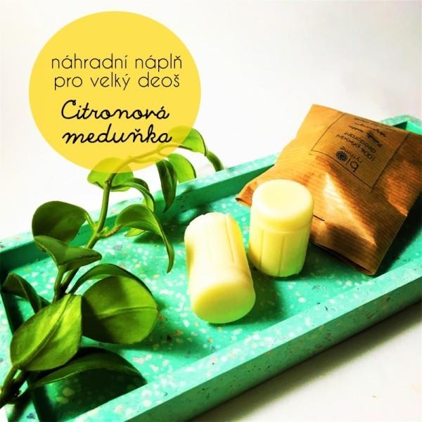 Biorythme 100% přírodní deodorant krémový Citronová meduňka náhradní náplň  30 g