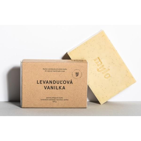 Mylo Levandulová vanilka, jemné peelingové mýdlo s vanilkou a levandulí 100 g