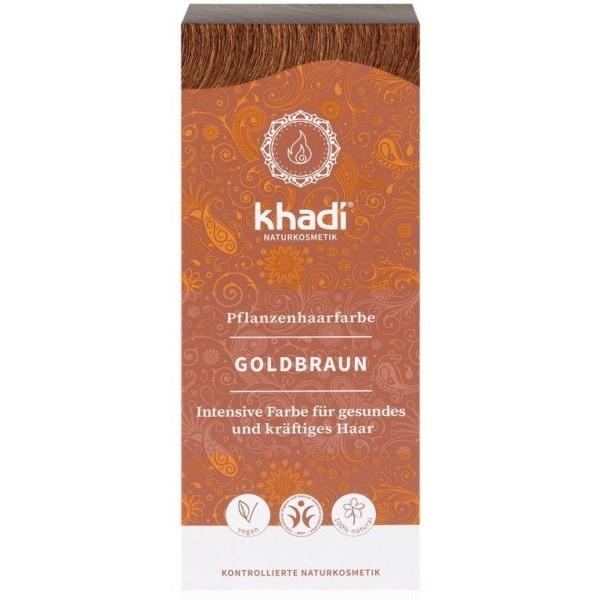 Khadi rostlinná barva na vlasy ZLATÁ HNĚDÁ (100 g)