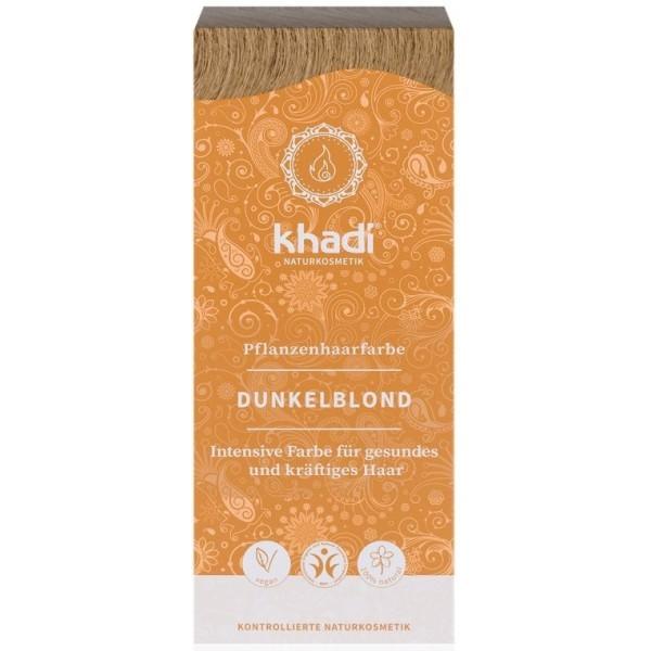 Khadi Rostlinná barva na vlasy TMAVÁ BLOND (100 g)