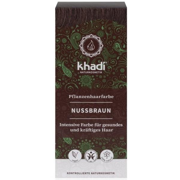 Khadi rostlinná barva na vlasy OŘÍŠKOVĚ HNĚDÁ (100 g)