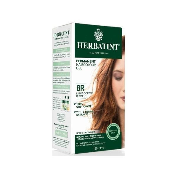 HERBATINT permanentní barva na vlasy Světle měděná blond 8R