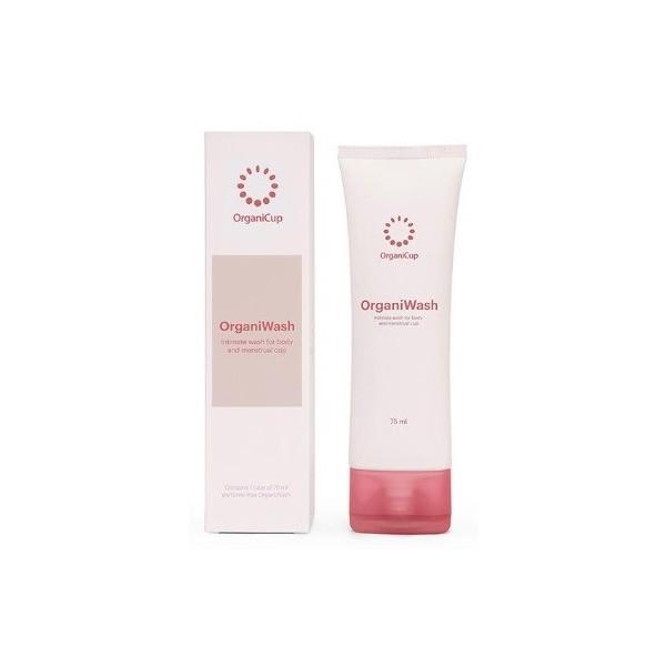 OrganiCup OrganiWash Gel na mytí menstruačního kalíšku i intimních oblastí 75 ml