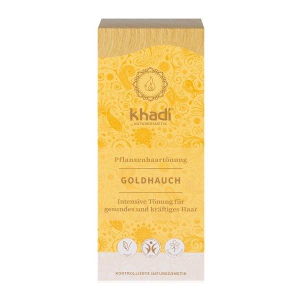 Khadi rostlinná barva na vlasy Zlatý přeliv (100 g)