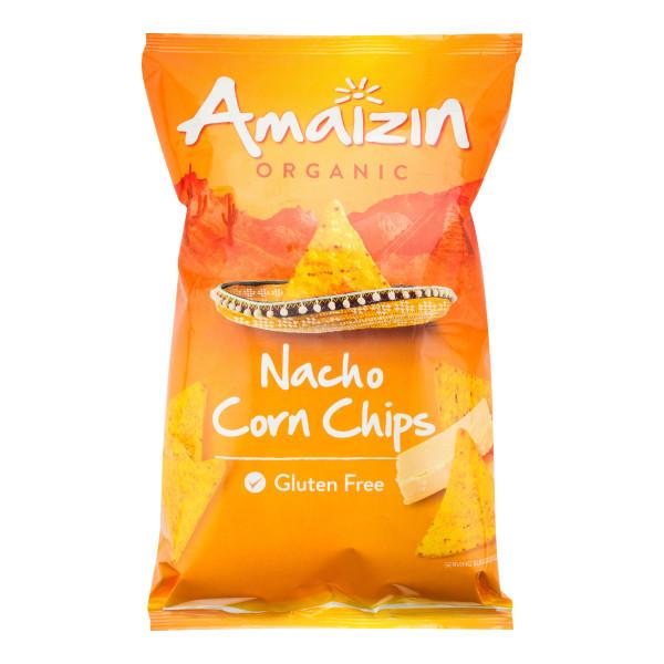 AMAIZIN  BIO Chipsy kukuřičné nachos sýr