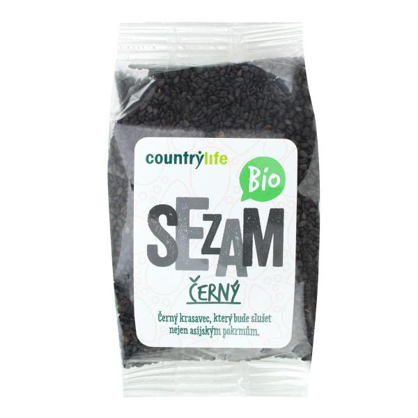 COUNTRYLIFE Sezam černý neloupaný BIO