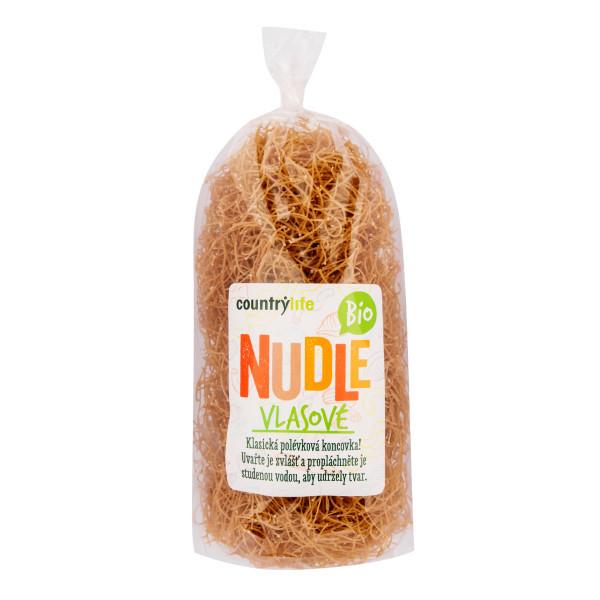 COUNTRYLIFE Těstoviny nudle pšeničné vlasové 200g BIO
