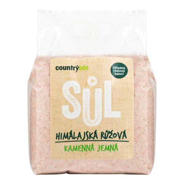 COUNTRYLIFE Sůl himálajská růžová jemná 1kg