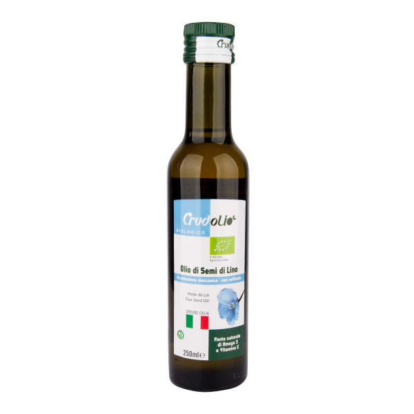 CRUDOLIO Olej lněný 250 ml BIO