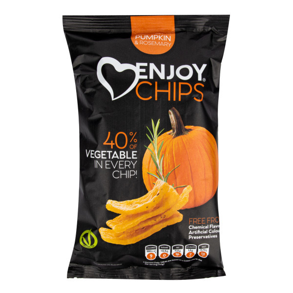 Enjoy Chips s dýní a rozmarýnem 40 g   NEW DELESPINE