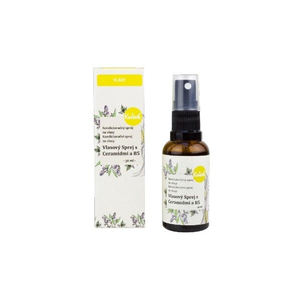 Kvitok Vlasový sprej s ceramidy a B5 na rozčesávání vlasů 30 ml