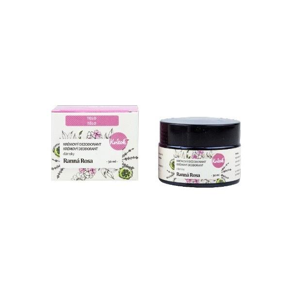 Kvitok Přírodní jemný krémový deodorant dámský - Ranní rosa 30 ml