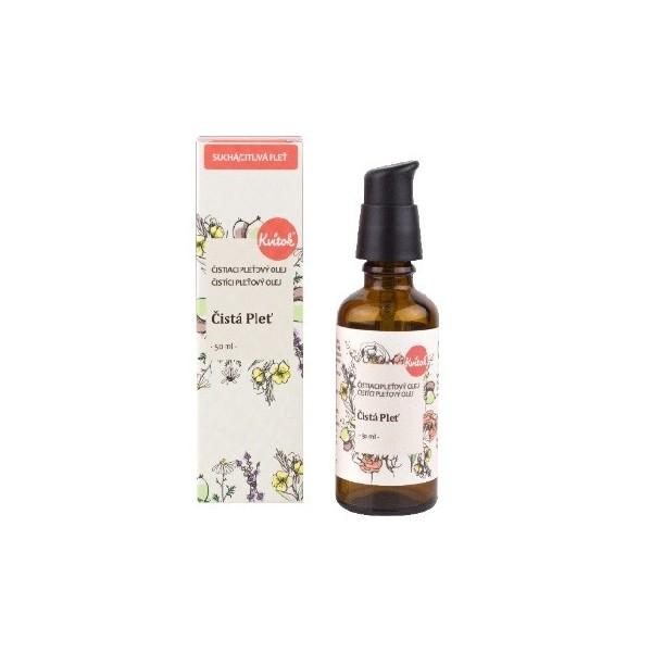 Kvitok Čistá pleť, Čistící olej pro suchou a citlivou pleť 50 ml