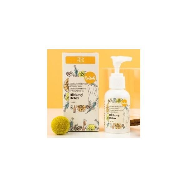 Kvitok Anticelulitidní masážní olej - Hloubkový detox 50 ml