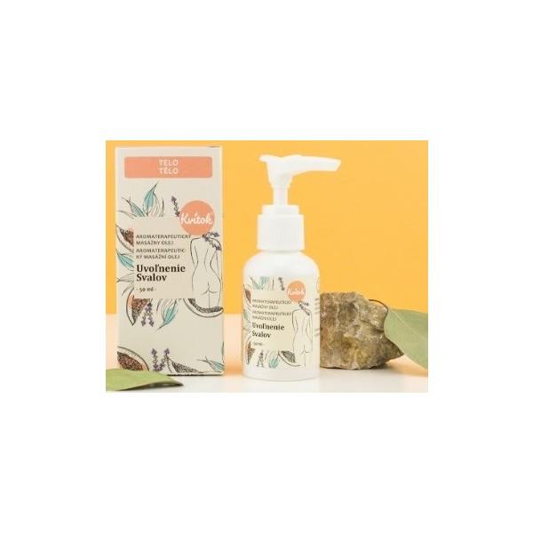 Kvitok Aromaterapeutický masážní olej - Uvolnění svalů 50 ml