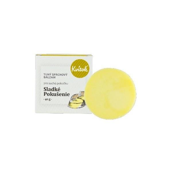 Kvitok Tuhý sprchový balzám - Sladké pokušení pro suchou pokožku 40 ml