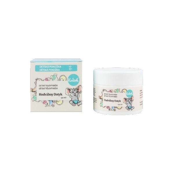 Kvitok Dětský tělový krém - Hedvábný dotek 50 ml
