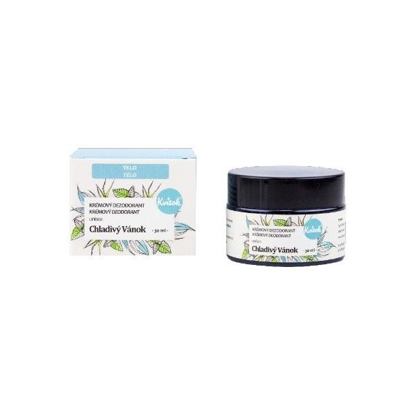 Kvitok Přírodní jemný krémový deodorant - Chladivý vánek 30 ml