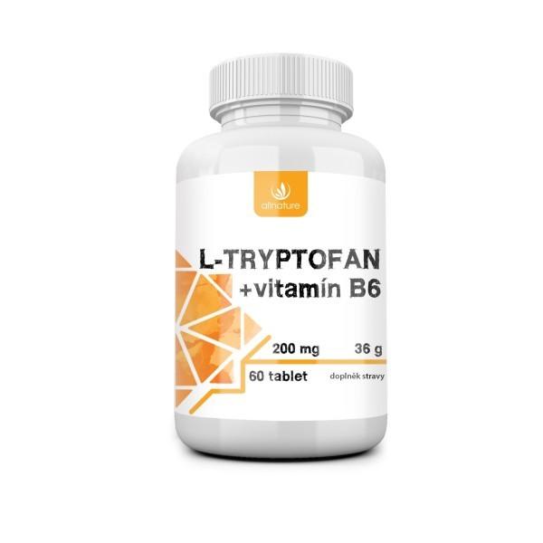 Allnature L-tryptofan 200mg/2,5mg vitamin B6
