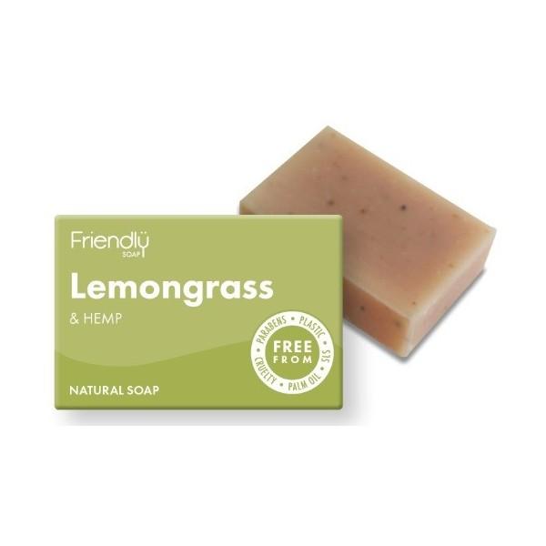 Friendly Soap přírodní mýdlo - citronová tráva a konopí