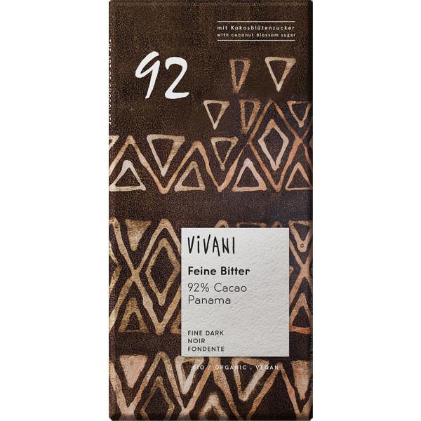 VIVANI Hořká čokoláda 92% s kokosovým cukrem BIO