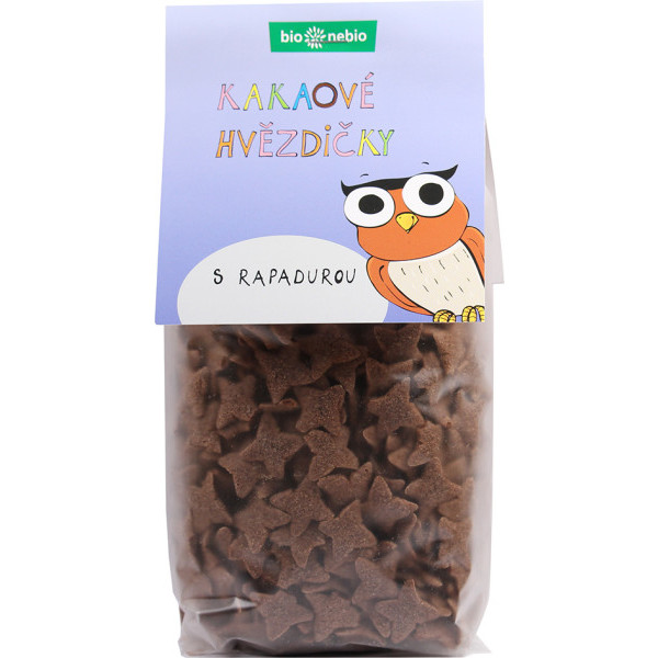 bio*nebio Kakaové hvězdičky s Rapadurou BIO