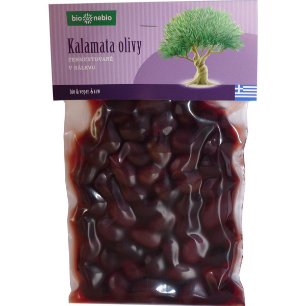 bio*nebio Kalamata olivy v nálevu BIO