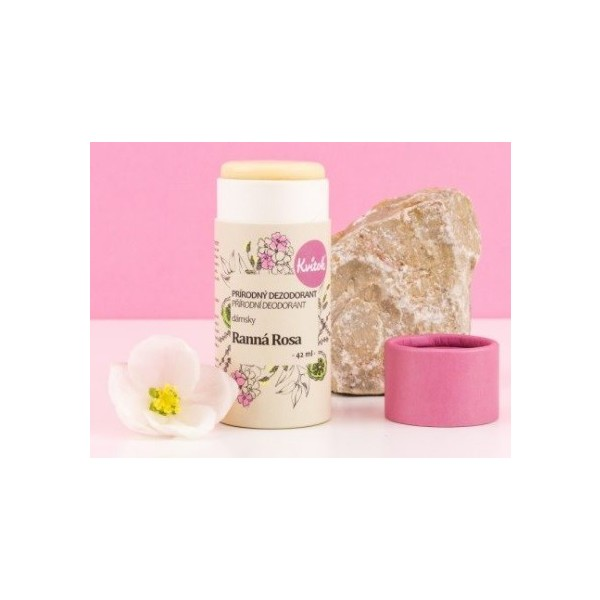 Kvitok Přírodní tuhý deodorant dámský - Ranní rosa 30 ml