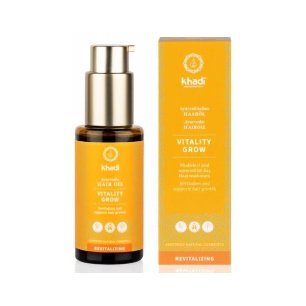 Khadi vlasový olej VITALITA stimulující růst vlasů (50 ml)