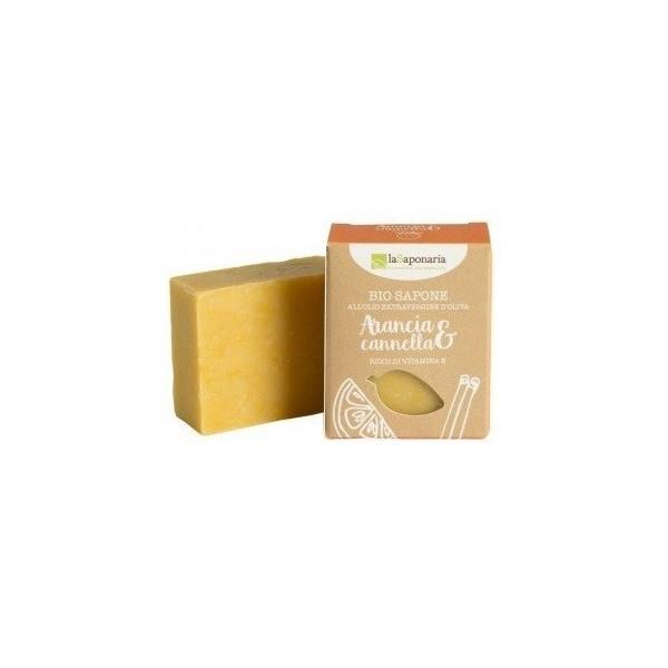 laSaponaria Tuhé olivové mýdlo BIO - Pomeranč a skořice 100 ml