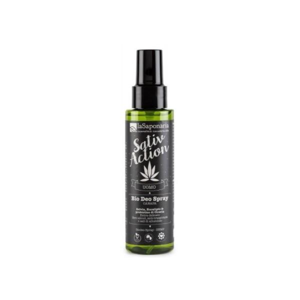 laSaponaria Pánský deodorant ve spreji s konopím BIO 100 ml