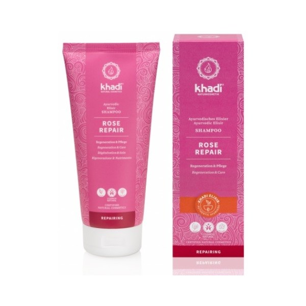Khadi Elixír šampon Růže Reparace (200 ml)