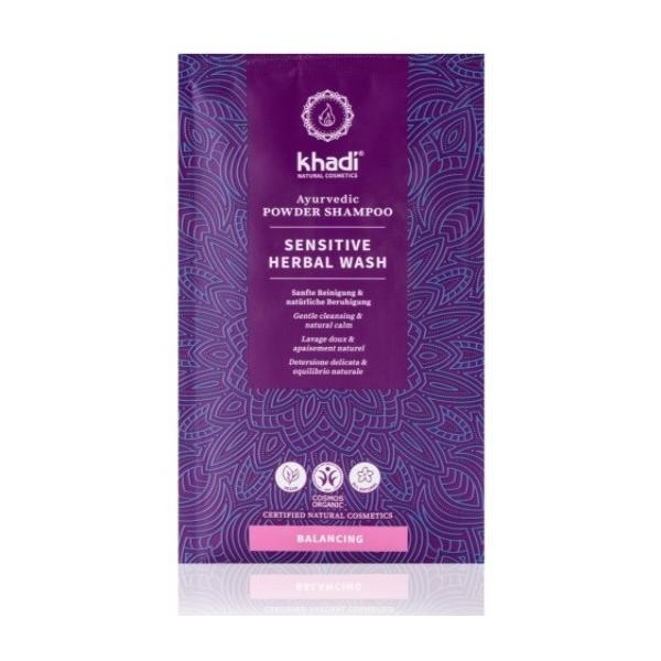 Khadi práškový šampón Mytí rostlinami - sensitive (50 g)
