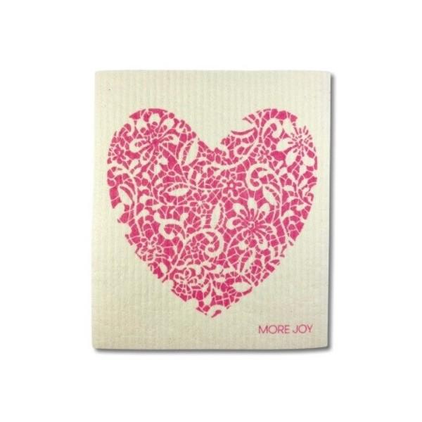 More Joy Pratelná univerzální utěrka - Červené srdce