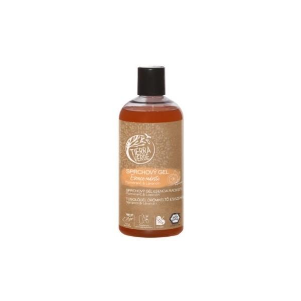 Tierra Verde Sprchový gel Esence radosti – Pomeranč & Lavandin (500 ml)